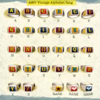 ASO! - Vintage Alphabet Ring