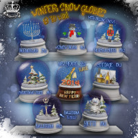 Yummy - Holiday Snow Globes