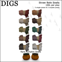 Digs - Straw Bale Seats