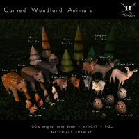 Half-Deer - Carved Woodland Animals