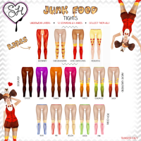 Sugar Heart - Junk Food Tights