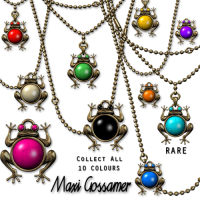 Maxi Gossamer - Jazz Hands Frog Necklace