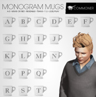 Commoner - Monogram Mugs