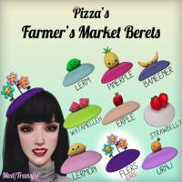 Pizza - Farmer's Market Berets