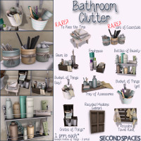 Second Spaces - Bathroom Clutter