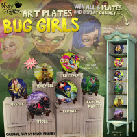 Nylon Outfitters - Bug Girl Art Plates