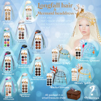 Tableau Vivant - Longfall Hair and Mermaid Headdress