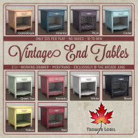 Trompe Loeil - Vintage End Tables