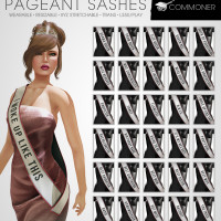 Commoner - Pageant Sashes