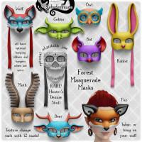 Schadenfreude - Forest Masquerade Masks