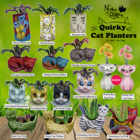 Nylon Outfitters - Quirky Cat Vases