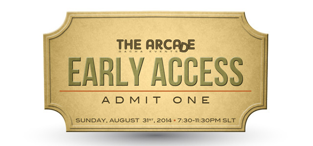 The Arcade Gacha Events – September 2014 Early Access Pass