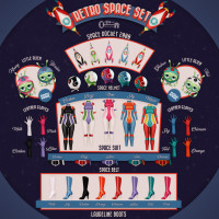 The Secret Store - Retro Space Set