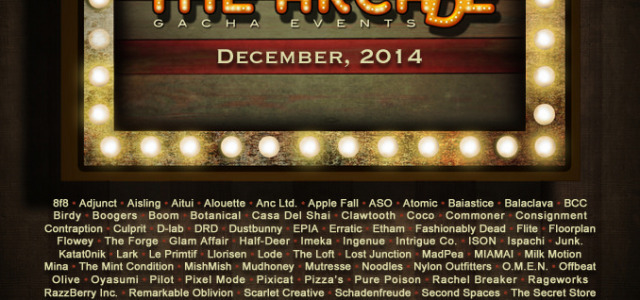 The Arcade Gacha Events: December 2014 Line-up