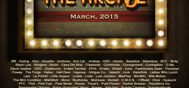 2 Weeks till March 2015 Arcade!