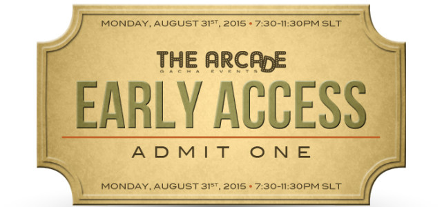 THE ARCADE GACHA EVENTS – SEPTEMBER 2015 EARLY ACCESS PASS