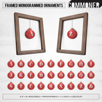 Commoner - Framed Monogrammed Ornaments