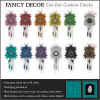 Fancy Decor - Cut Out Cuckoo Clocks