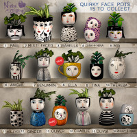 Nylon Outfitters - Quirky Face Pots