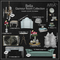 Aria - Bella Glamour Room Collection