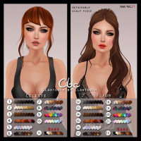 Clawtooth - Celeste and Fleur Rigged Mesh Hairs