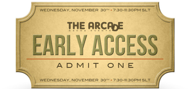 THE ARCADE GACHA EVENTS – December 2016 EARLY ACCESS PASS
